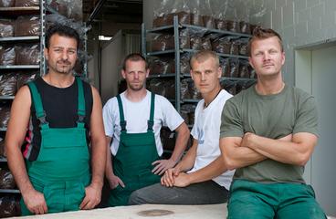 Die Substratabteilung der Pilzgarten GmbH