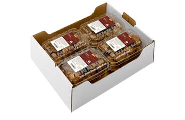 4x 200g Shiitake in PLA Schalen mit Umkarton