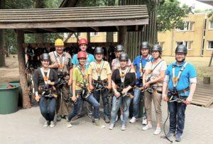 Pilzgarten Team im Kletterpark Verden