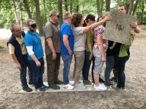 Pilzgarten Teamtraining im Kletterpark